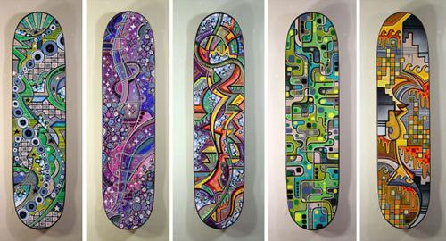 I love these super bright and poppy graphics Matt puts on skateboards