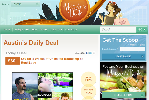 Deal Current Daily Deal Site Design
